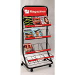 Single Side Magazine Rack