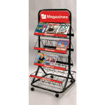 Double Side Magazine Rack
